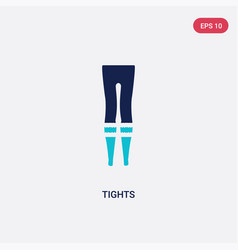 Two color tights icon from fashion concept vector