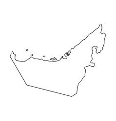 United arab emirates map of black contour vector