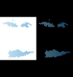 Usa virgin islands map honeycomb scheme vector