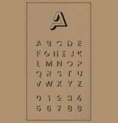 Vintage trendy alphabet set vector