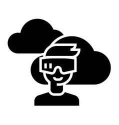 virtual reality glasses headset icon vector image