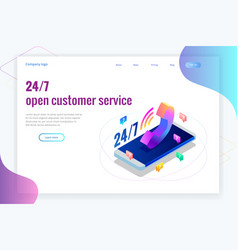 web page design templates for call center support vector image
