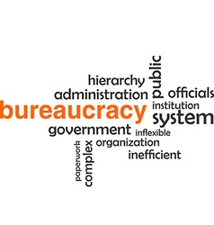 Word cloud bureaucracy vector