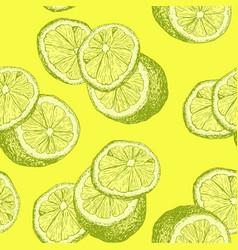 yellow lemons and lemon slices for kids room vector image