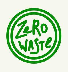 zero waste emblem green vector image