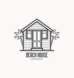 Beach house logotype vector