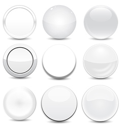 Blank White Buttons vector image vector image