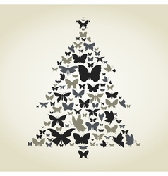 Butterfly a pine vector image vector image