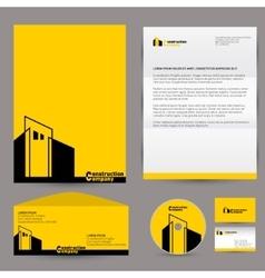 Corporate identity branding mock up vector image