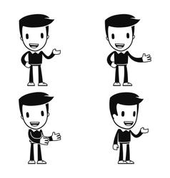 funny cartoon helper man vector image vector image