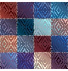 Satin patchwork vector image