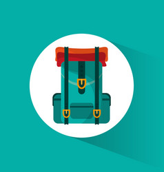 backpack travel equipment icon vector image vector image
