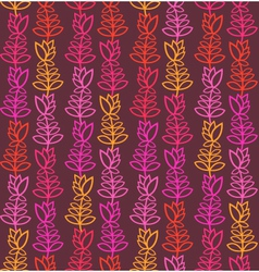 Brown seamless pattern with colorful flowers vector image vector image