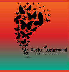 butterflies background with text vector image vector image