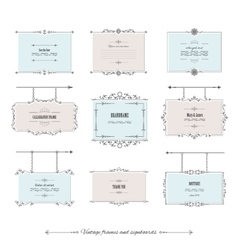 Luxury vintage frames and signboards set vector image