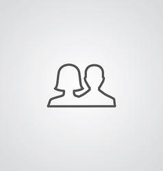 male female outline symbol dark on white vector image