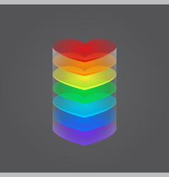 column of hearts vector image