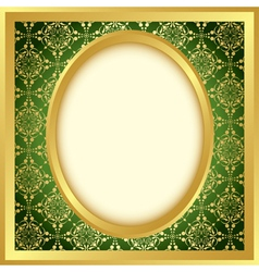 golden frame with bright pattern vector image vector image