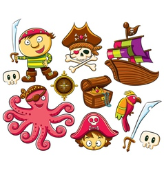 Pirate Collection Set vector image vector image