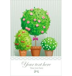 Pot flowers vector image