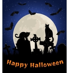 cats in cemetery vector image vector image