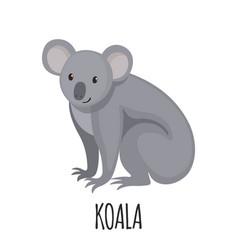 cute koala in flat style vector image vector image