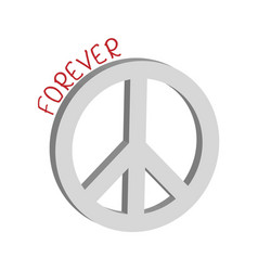 forever peace symbol concept vector image vector image