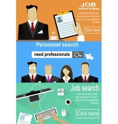 Man and woman personnel searching selection vector image