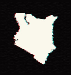 map kenya isolated black on vector image