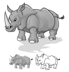 Rhinoceros Cartoon Character vector image vector image