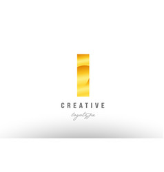 1 one gold golden metal gradient number logo icon vector image