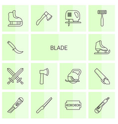 14 blade icons vector