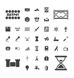 37 old icons vector
