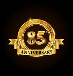 85 years anniversary celebration logotype vector image
