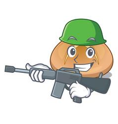 Army hot cross buns on cutting cartoon vector