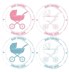 Baby friendly stamps vector image