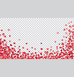 background with paper hearts vector image