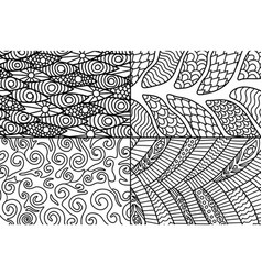 beautiful abstract patterns for coloring book vector image