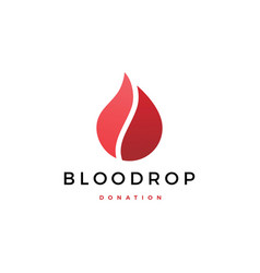 blood drop donation logo icon vector image