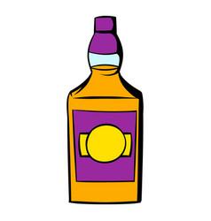 bottle whiskey icon icon cartoon vector image