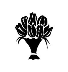 Bouquet simple icon vector