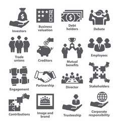 Business management icons pack 32 vector