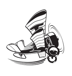 Cartoon biplane vector