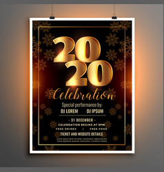 celebration flyer template for happy new year vector image