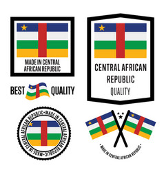 Central african republic quality label set vector