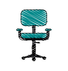Chair office doodle vector