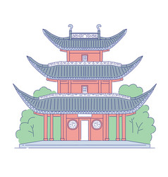 chinese building architectural landmark vector image