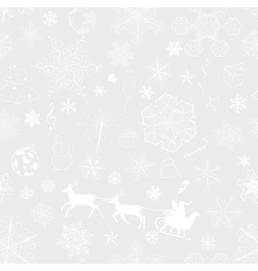christmas seamless gray background vector image