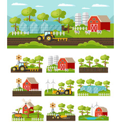 colorful farming concept vector image