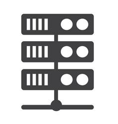 Computer server icon vector